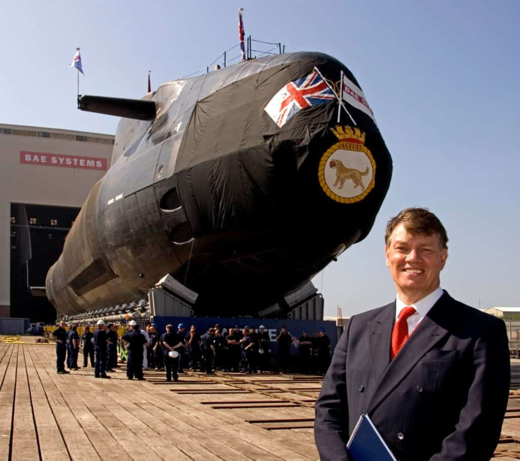 Chris and Astute submarine